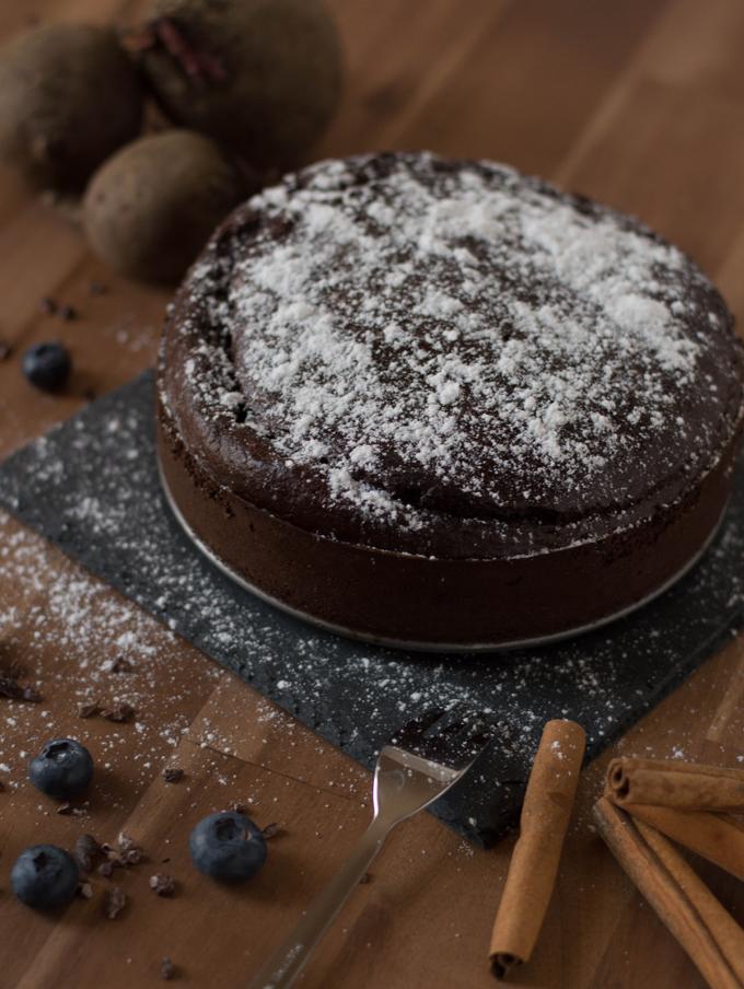 Rote Rüben-Schoko Kuchen