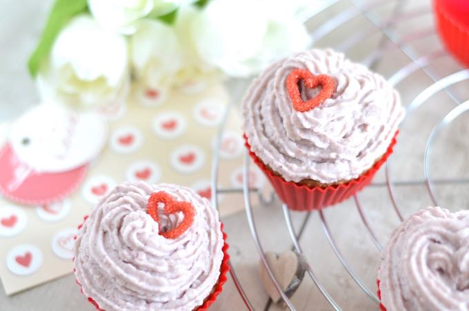 Valentinstags-Cupcakes