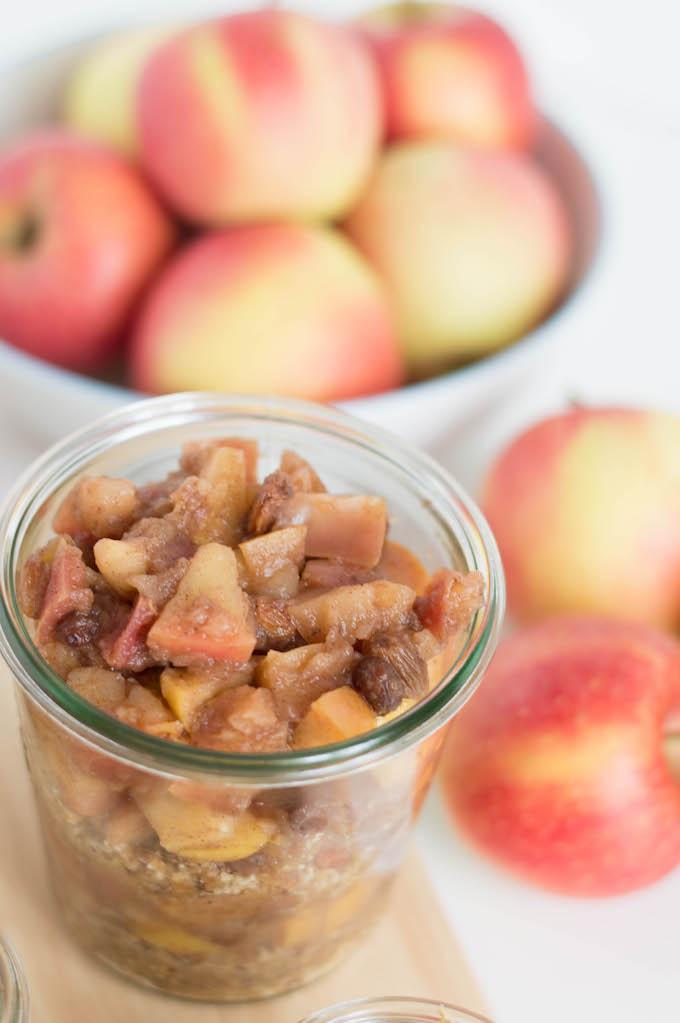 Paleo Apfelstrudel im Glas