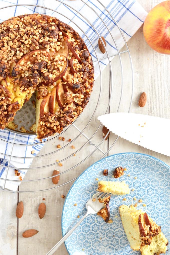 Apfelkuchen mit Mandelcrumble