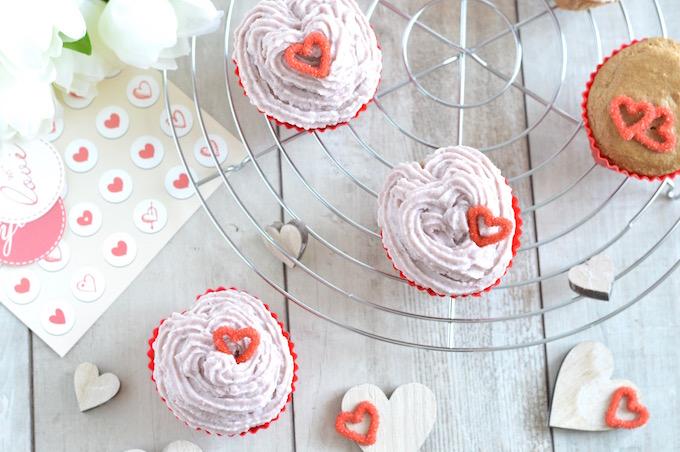 Verliebte Cupcakes