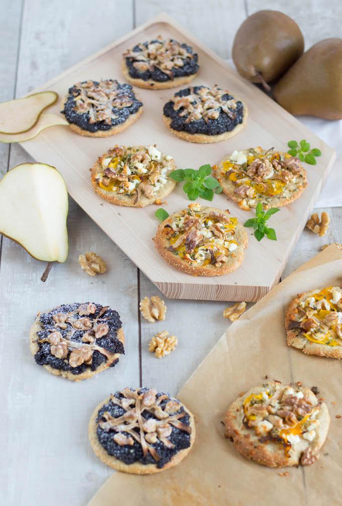 Low-Carb Minipizza süß und salzig
