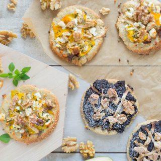Low-Carb Mini Pizza süß und salzig